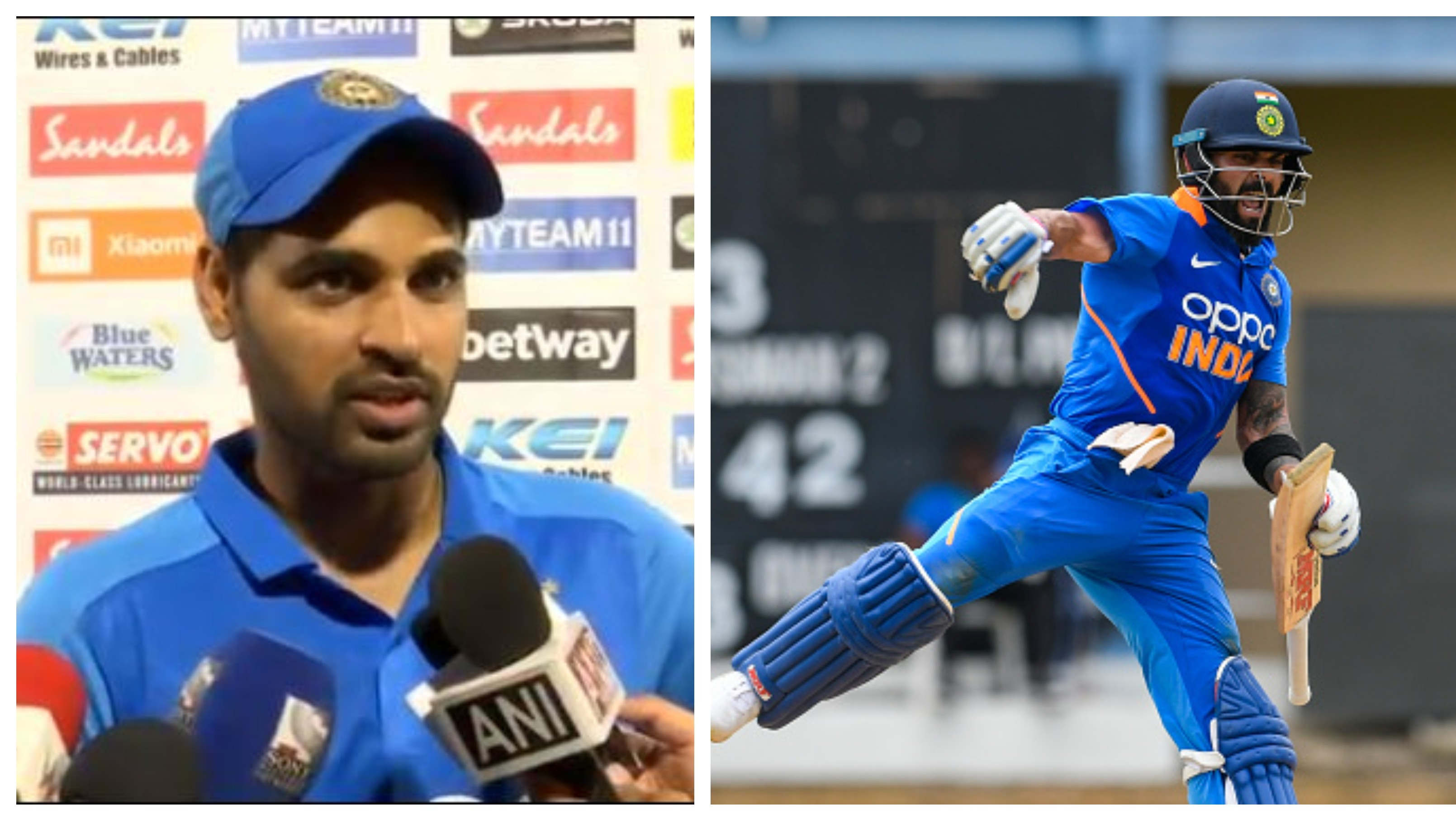 WI v IND 2019: Virat's expression said how badly he wanted this hundred, reckons Bhuvneshwar Kumar