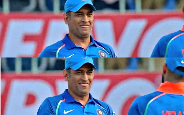 MS Dhoni's sheepishly smile said everything about that massive six | Twitter