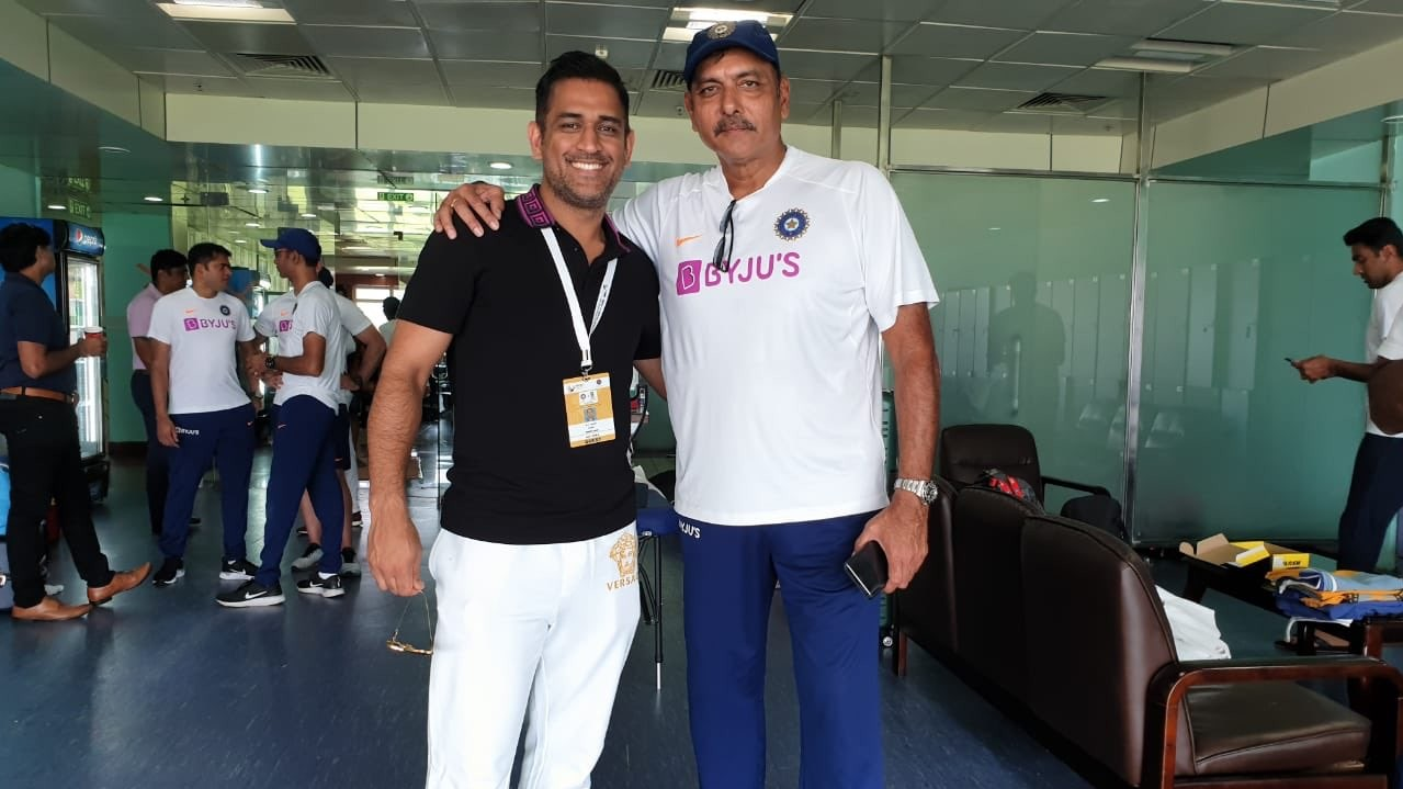 IND v SA 2019: Ravi Shastri shares picture with MS Dhoni; fans reply with hilarious comments