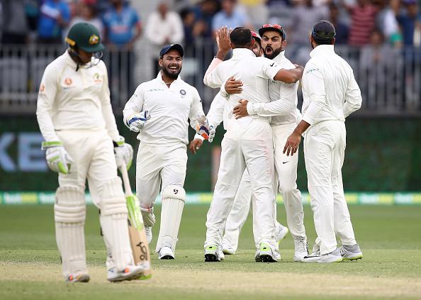 Virat Kohli celebrating a wicket | GETTY