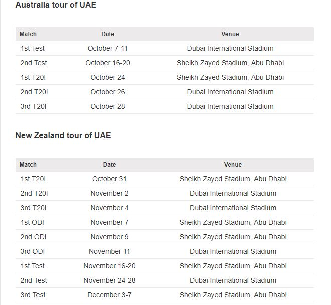 Pakistan will have a busy home season later this year. (Cricbuzz)