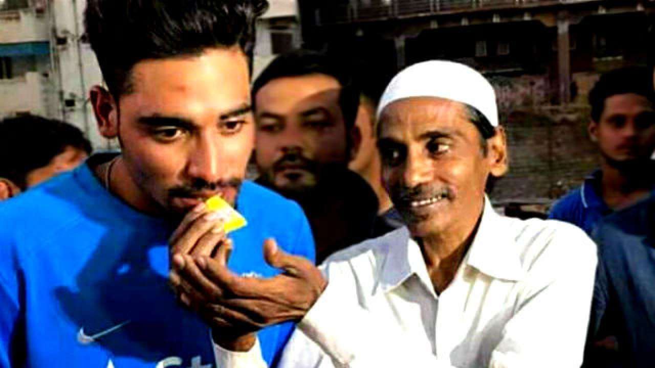 Mohammad Siraj with his late father Mohammed Ghouse