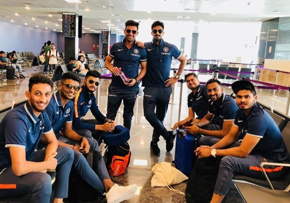 Players of India A on tour of England | Instagram