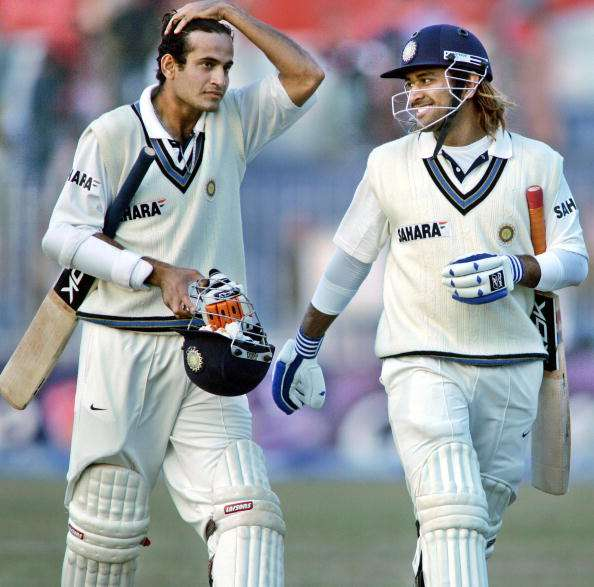 Irfan Pathan and MS Dhoni  (Source: AP Photo)