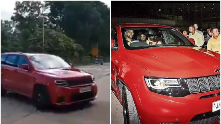 WATCH: MS Dhoni spotted driving his Jeep Grand Cherokee Trackhawk in Ranchi