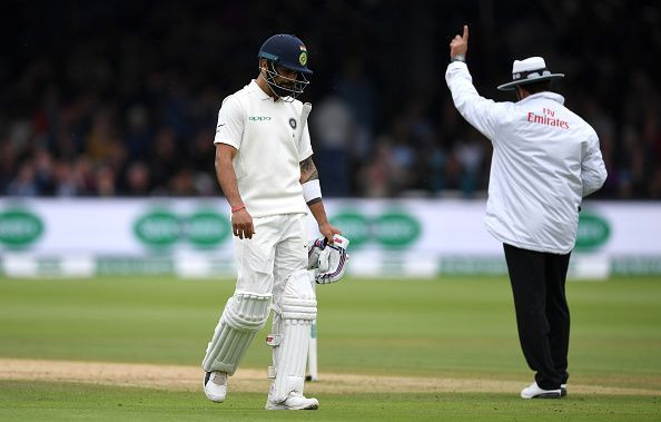 Kohli failed with the bat in both innings at Lord's. (Getty)