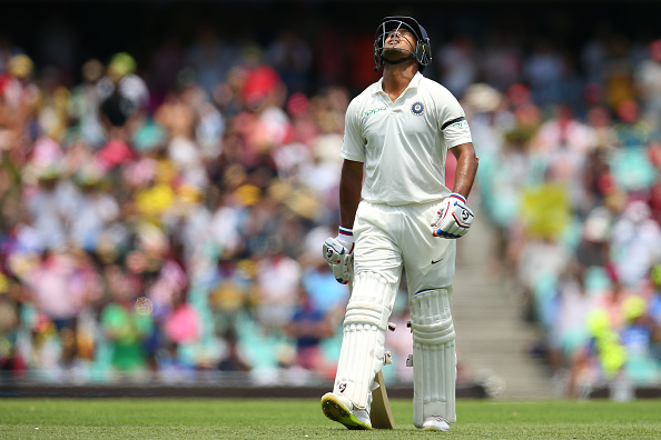 Mayank Agarwal looks dejected after being dismissed by Nathan Lyon in Sydney | Getty
