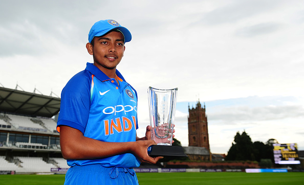 Prithvi Shaw will lead India in 2018 Under-19 World Cup | Getty