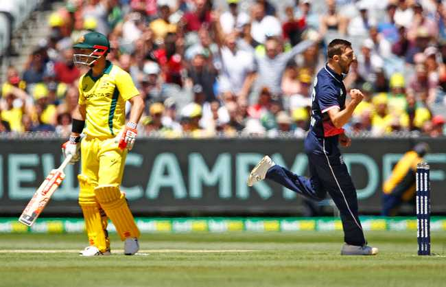David Warner was dismissed by Mark Wood in the first ODI for 2 runs | Getty