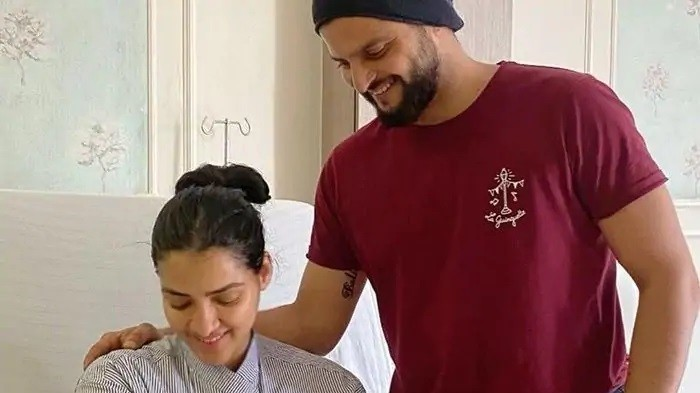 Suresh Raina introduces his baby boy; reveals his name