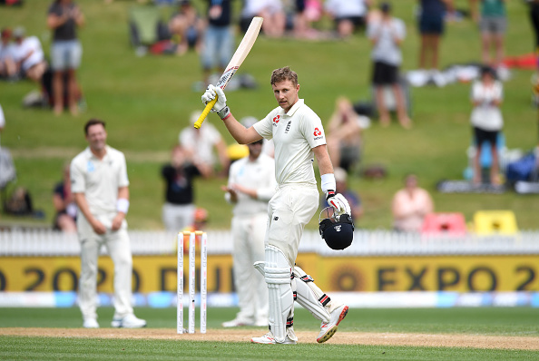 Root celebrates his double Test ton in Hamilton   Getty Images