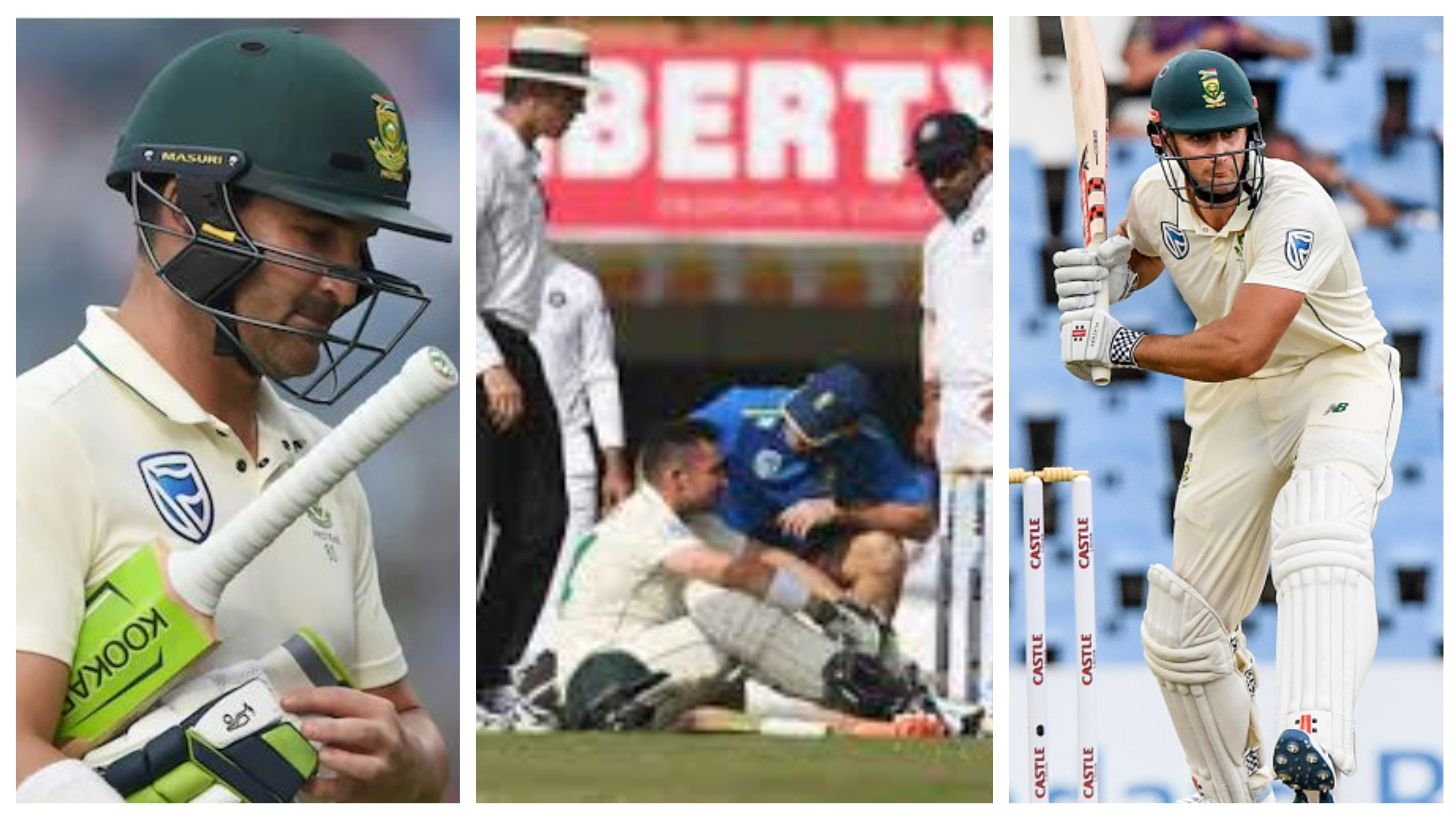 IND v SA 2019: Theunis de Bruyn replaces injured Dean Elgar as concussion substitute