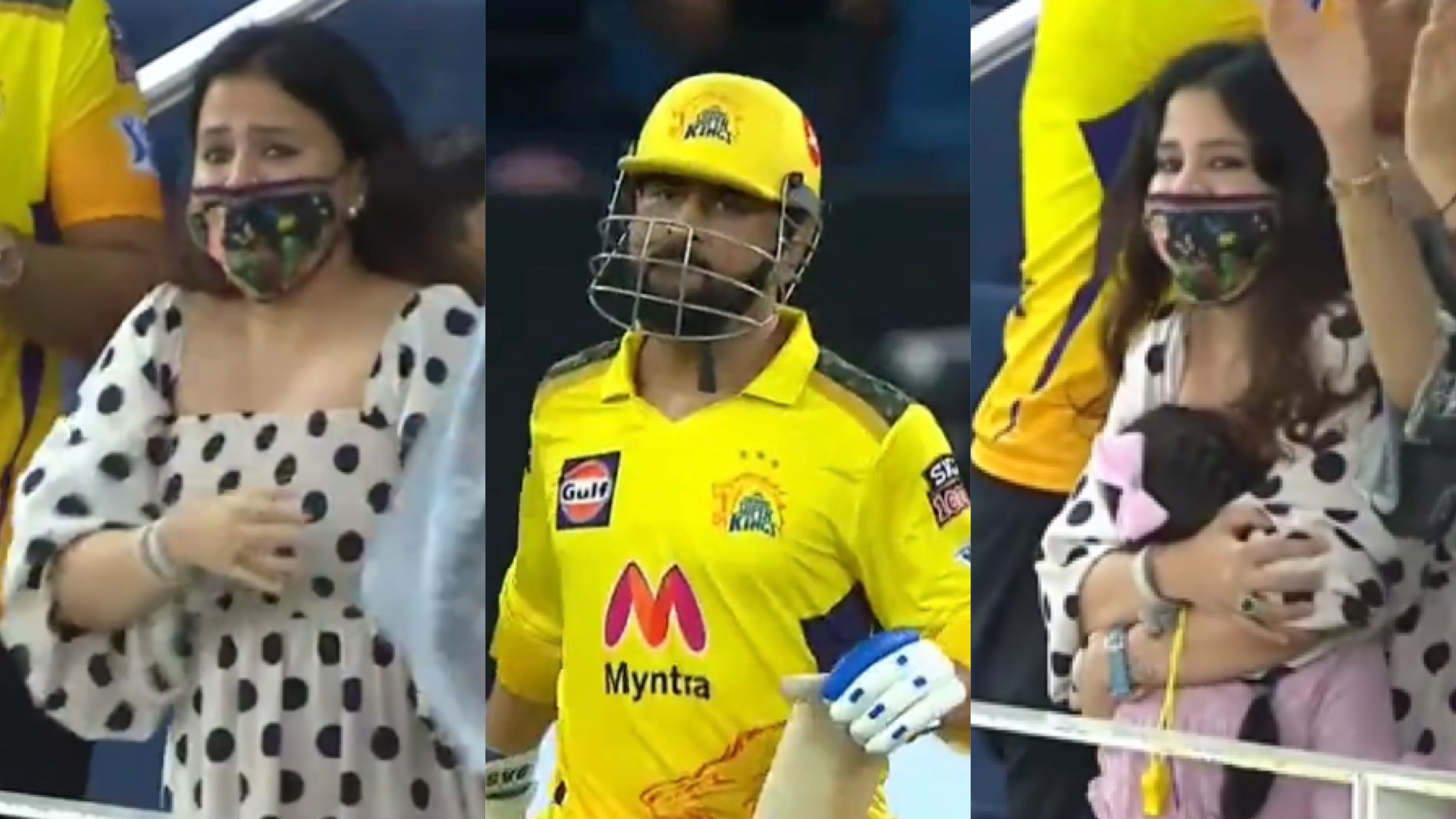 IPL 2021: WATCH - Sakshi gets emotional as MS Dhoni rewinds the clock to take CSK into the final