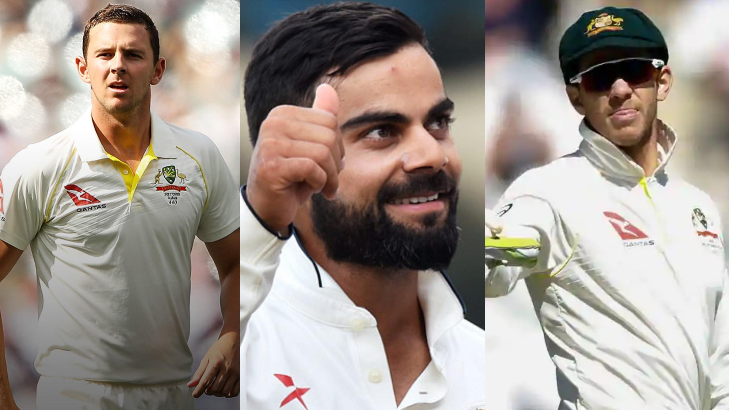 AUS v IND 2018-19 : विराट कोहली को स्लेड्जिंग करने पर जोश हेजलवुड और कप्तान टिम पेन ने दिया ये बयान