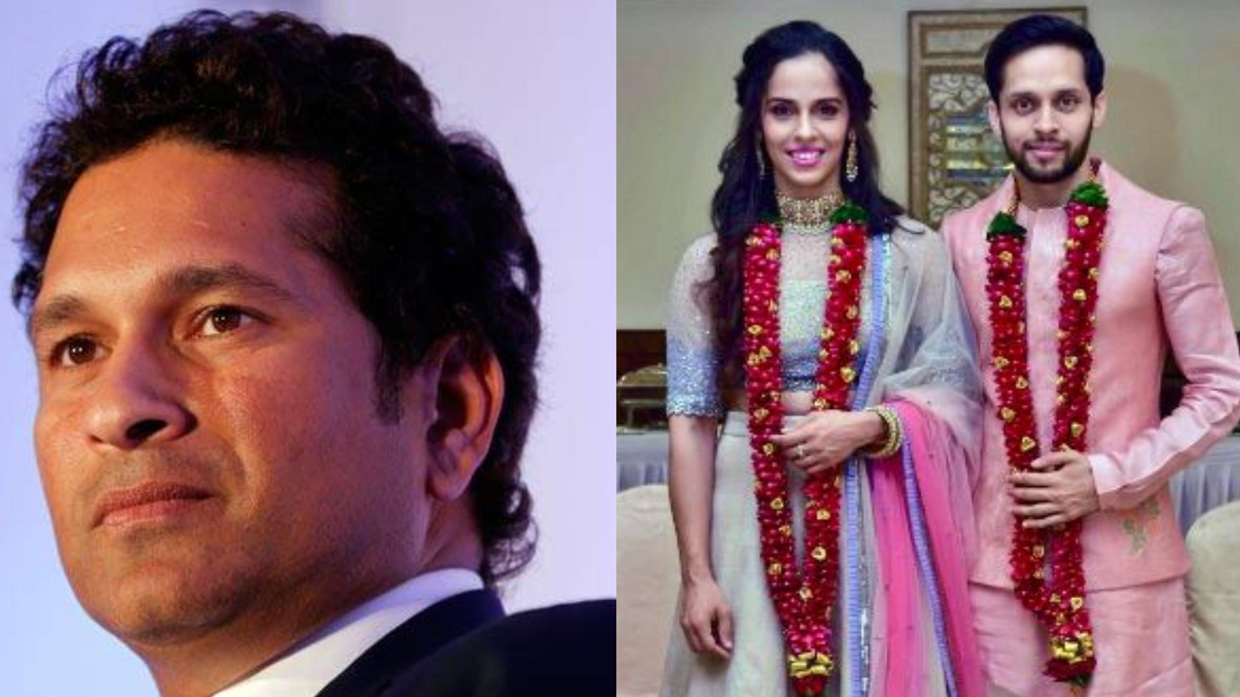 साइना नेहवाल और परुपल्ली कश्यप को शादी की बधाई देते समय सचिन तेंदुलकर ने की गलती और उड़ा मज़ाक