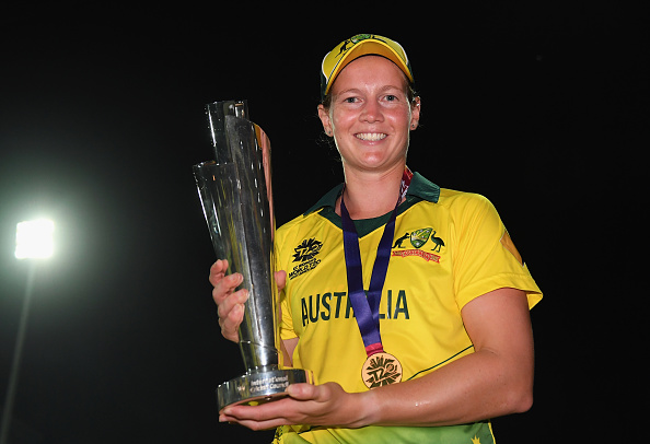 Meg Lanning with the World T20 Title after defeating England in the finals | Getty