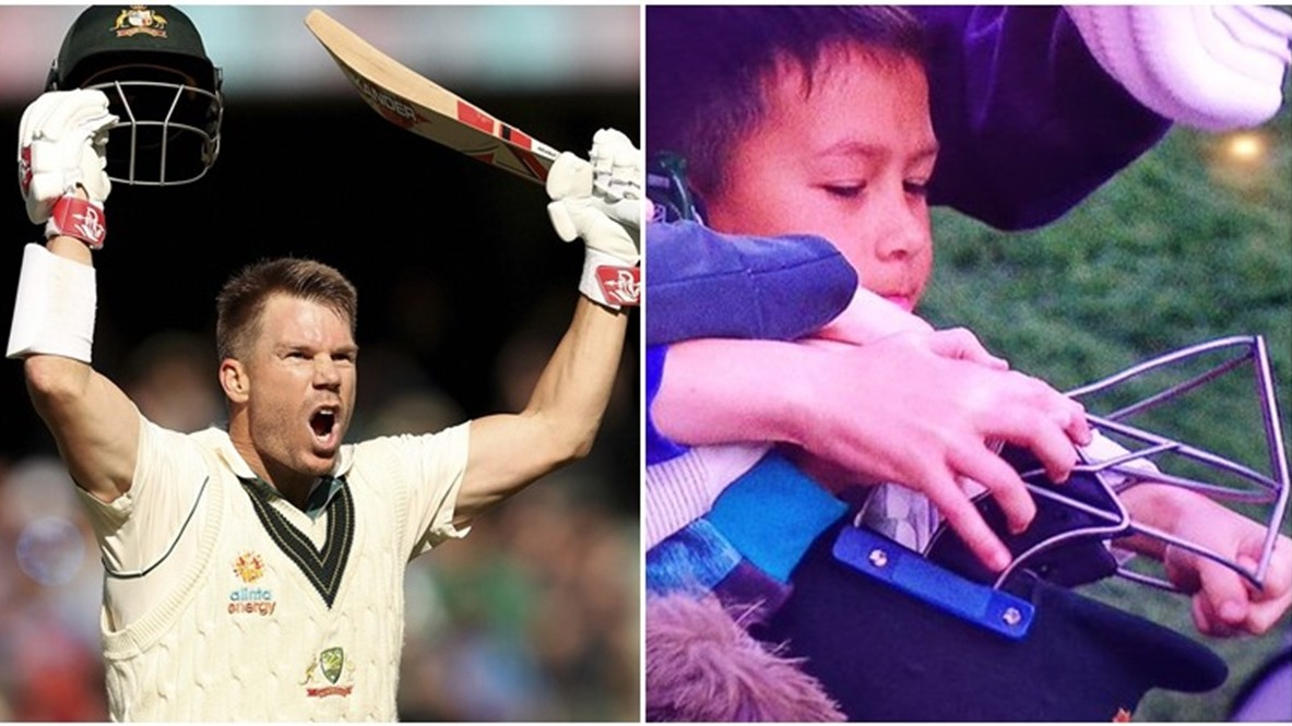 AUS v PAK 2019: WATCH – Warner gifts his helmet and gloves to young fans after maiden Test triple ton