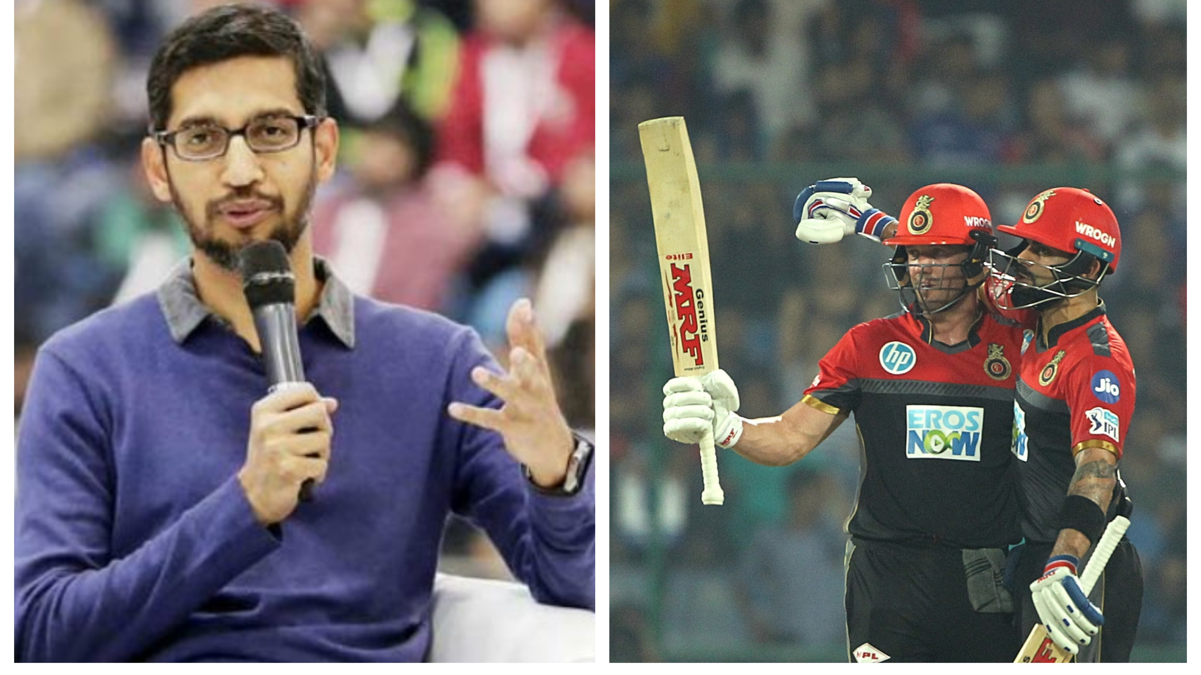 IPL 2018: Google CEO Sundar Pichai mesmerized by Kohli-Devilliers batting exhibition against Delhi Daredevils