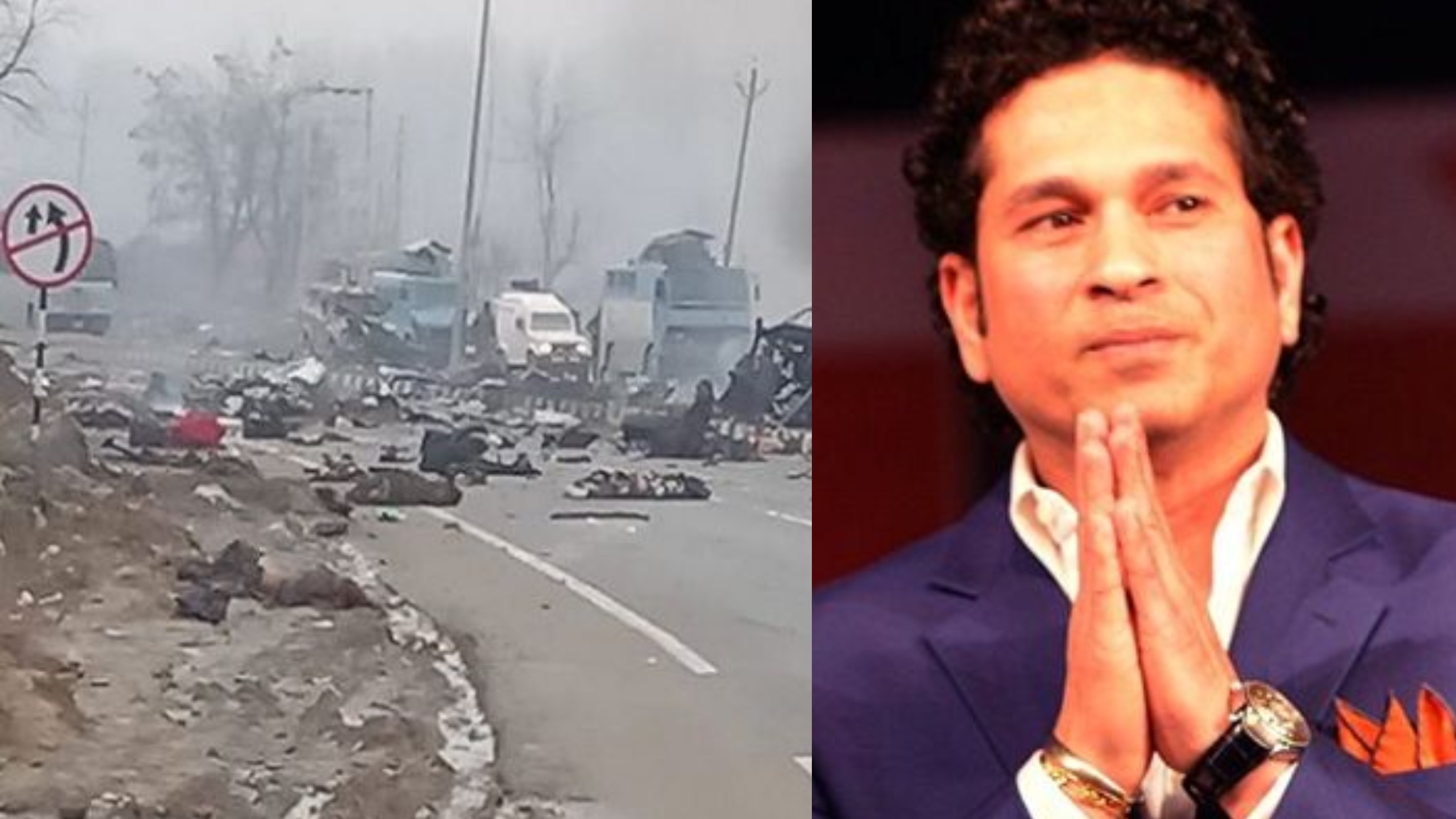 Sachin Tendulkar reacts to Pulwama terrorist attack