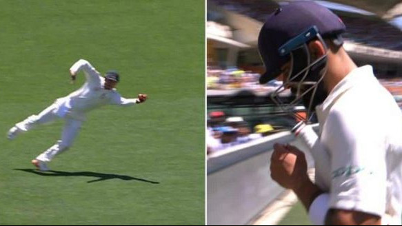 AUS v IND 2018-19: Watch –Usman Khawaja's one-handed screamer to dismiss Virat Kohli in Adelaide Test