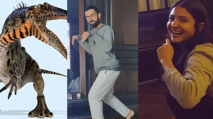 WATCH: Anushka shares clip of Virat Kohli's dinosaur walk; fans left in splits