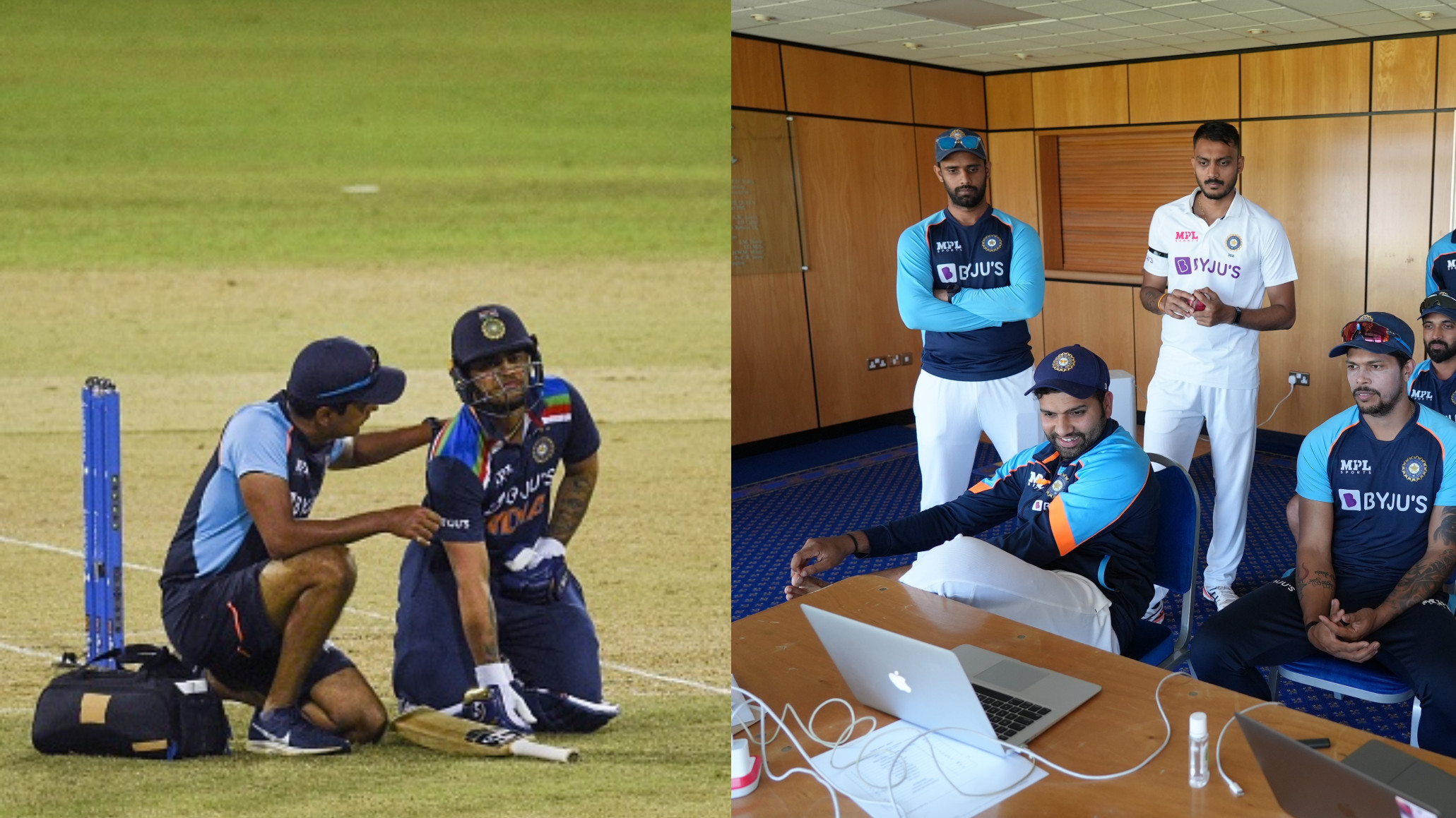 PIC - Team India in Durham watches Team India play Sri Lanka in 2nd ODI
