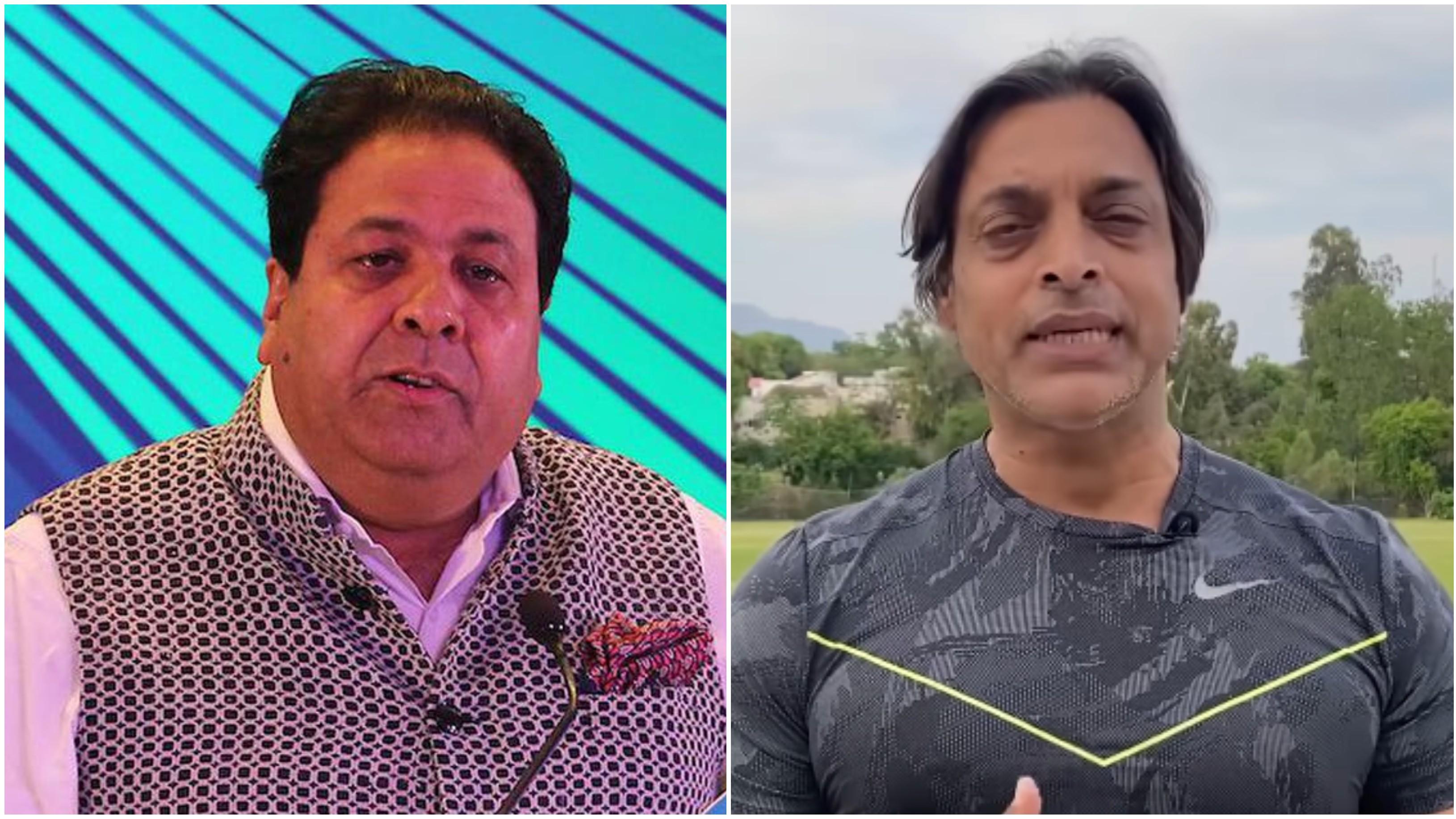 शोएब अख्तर के INDO-PAK सीरीज के बयान को राजीव शुक्ला ने बताया 'मजाक'