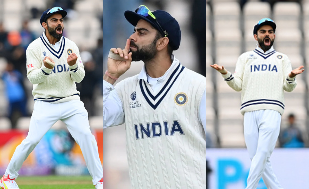 Virat Kohli's different gesture on the field | Getty Images