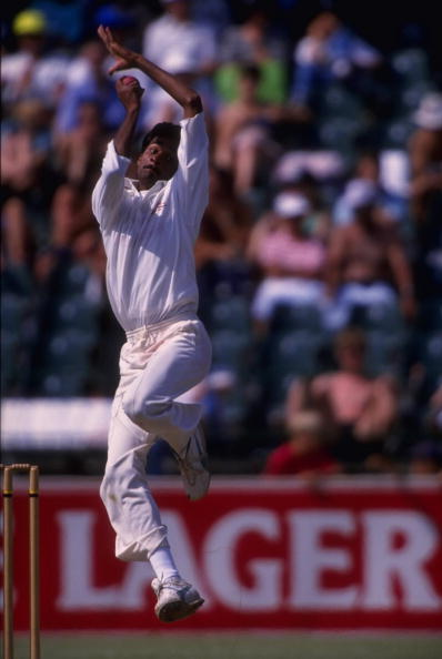 Javagal Srinath bowls during the 1992 South Africa tour | Getty