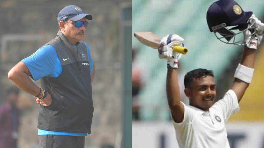 IND v WI 2018: Prithvi Shaw's innings made Ravi Shastri compare him with former greats