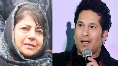J&K Chief Minister Mehbooba Mufti thanks Sachin Tendulkar for sanctioning funds for building school in Kashmir