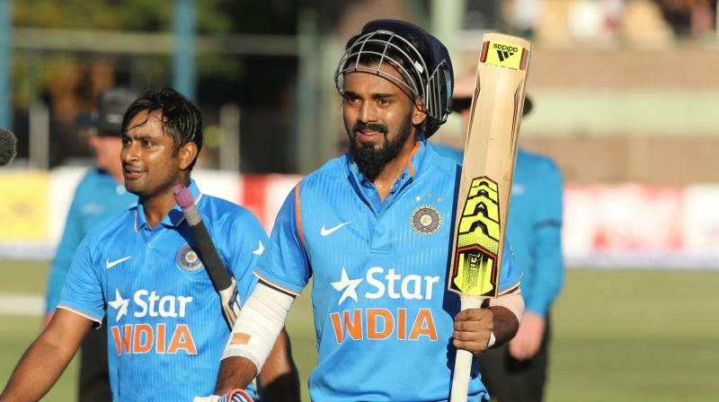 KL Rahul might get the no.3 spot in absence of Virat Kohli, while Rayudu's rich form may get him the tricky no.4 spot | Getty