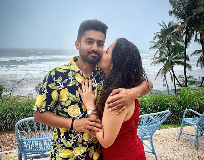 Karun Nair and Sanaya Takariwala | Instagram