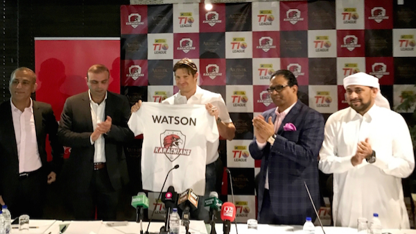 Shane Watson joins Karachians for T10 League