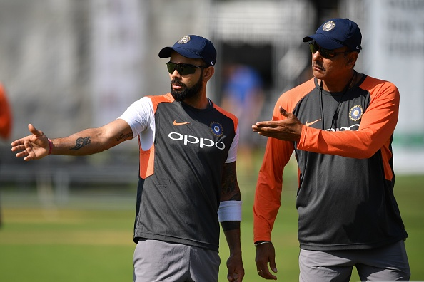 Coach Ravi Shastri and captain Virat Kohli at Lord's | GETTY