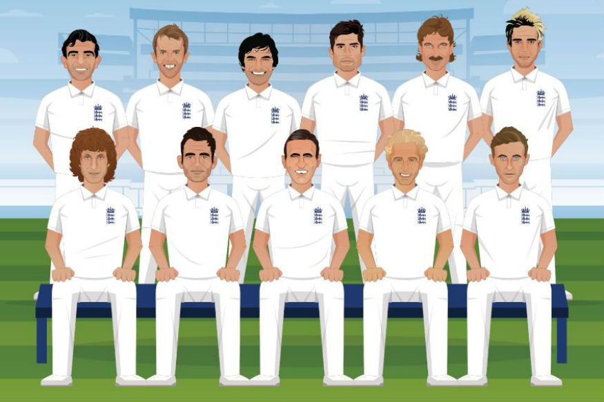 England's all-time XI. (Twitter)