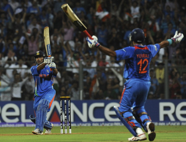 MS Dhoni's iconic six at Wankhede in the World Cup Final | Getty Images