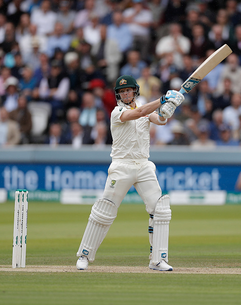 Steve Smith in action during the second test at Lord's | Getty