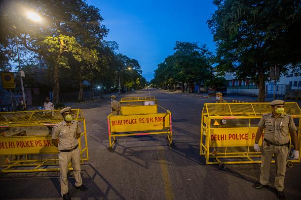 Delhi Police working even during the Coronavirus lockdown   Getty
