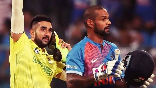 IND v SA 2019: Shamsi shares a hilarious tweet for Dhawan after his 'shoe celebration' in Bangalore T20I