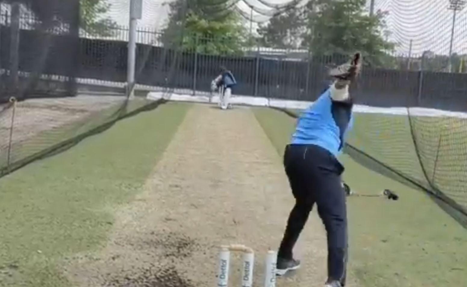 Saha batting in India nets ahead of Australia series | BCCI Twitter