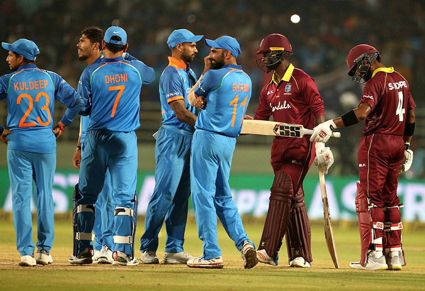 The closely second ODI between India and West Indies eventually ended in a tie | AP