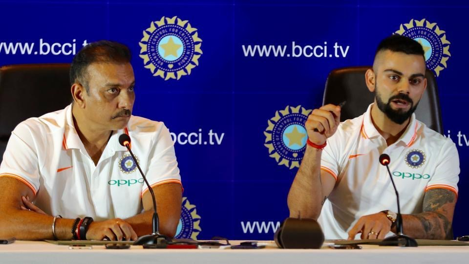 Virat Kohli and Ravi Shastri address press before India's tour to Ireland and England | Twitter