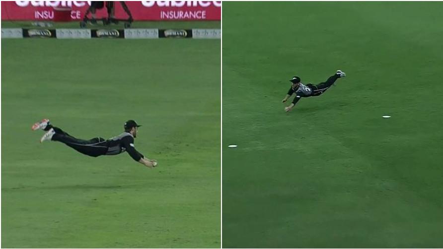 PAK v NZ 2018: WATCH- Kane Williamson's 'superman' catch in second T20I