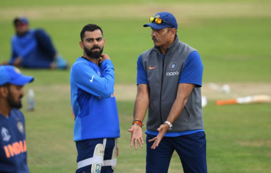 भारतीय कप्तान विराट कोहली के साथ कोच रवि शास्त्री | Getty