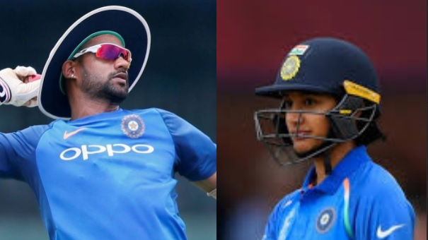 Shikhar Dhawan and Smriti Mandhana nominated for Arjuna Award