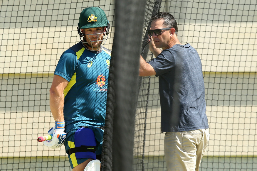 Ponting helping Aaron Finch in the nets | Getty
