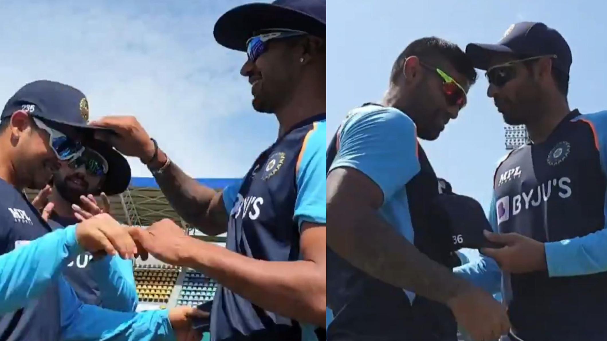 SL v IND 2021: WATCH- Ishan Kishan and Suryakumar Yadav receive their debut caps before 1st ODI vs Sri Lanka