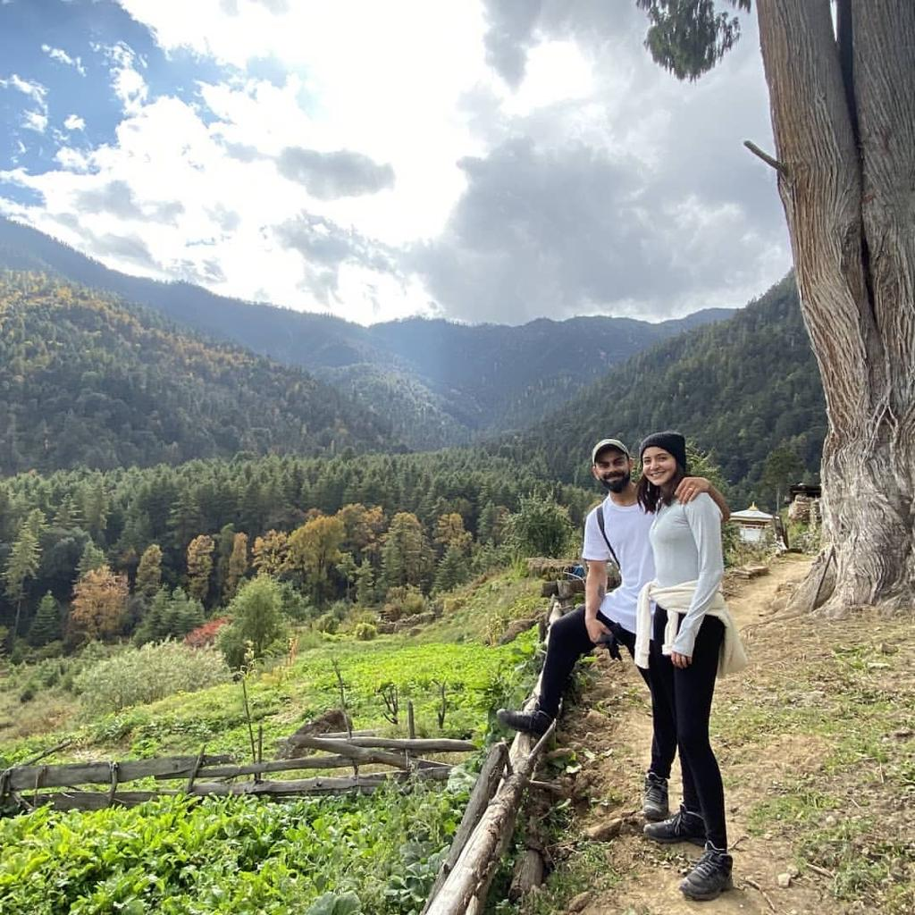 Virat Kohli and Anushka Sharma on a trek in Bhutan