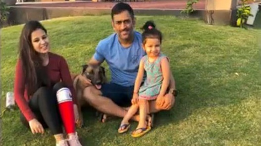 Watch: MS Dhoni and his fun time with family